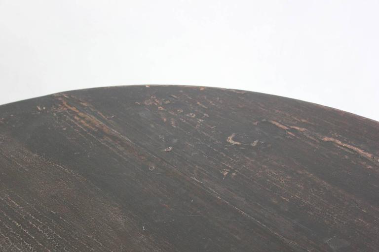 Black Lacquered British Four Legged Demilune 4