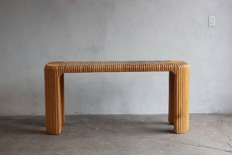 Four Legged Bamboo Console Table 2