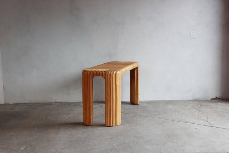 Four Legged Bamboo Console Table 3