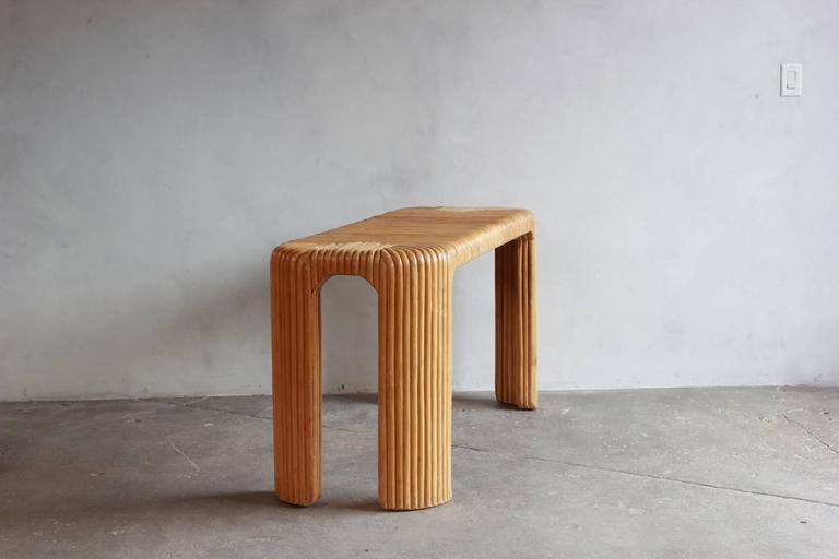 Four Legged Bamboo Console Table 4