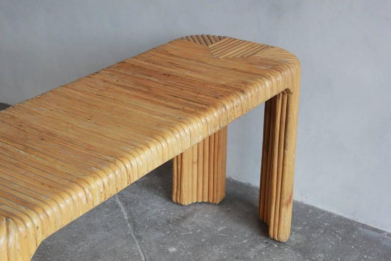 Four Legged Bamboo Console Table 5