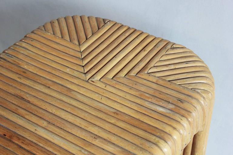 Four Legged Bamboo Console Table 6