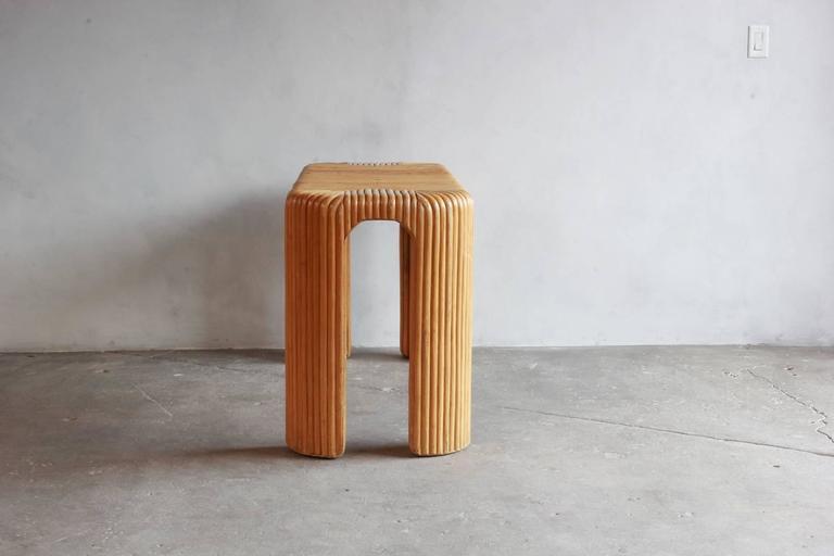 Four Legged Bamboo Console Table 7