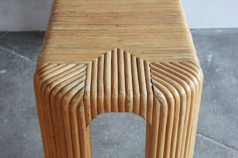 Four Legged Bamboo Console Table 8