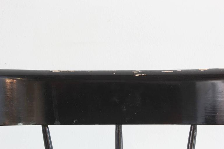 Paul McCobb Black Painted Spindle Chair For Sale 1