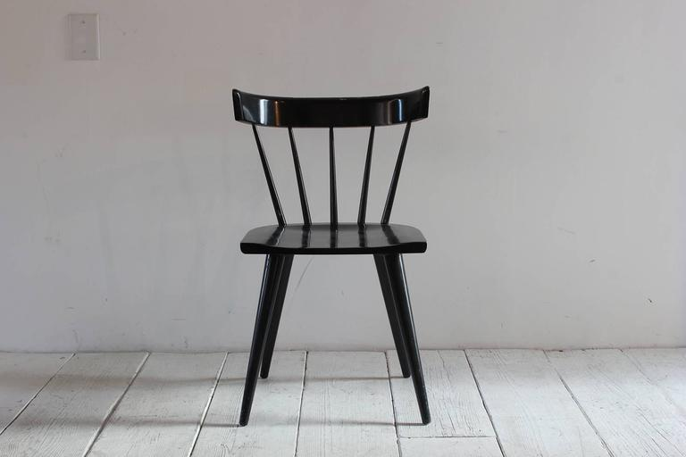 Paul McCobb black painted spindle chair.
