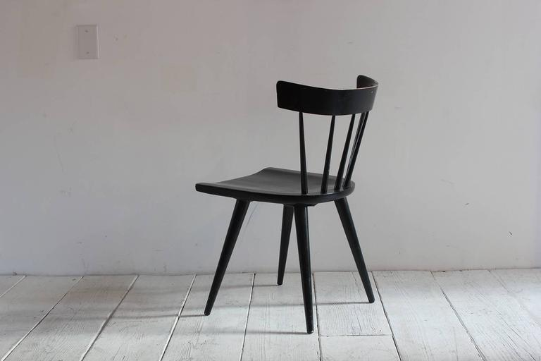 Mid-20th Century Paul McCobb Black Painted Spindle Chair For Sale