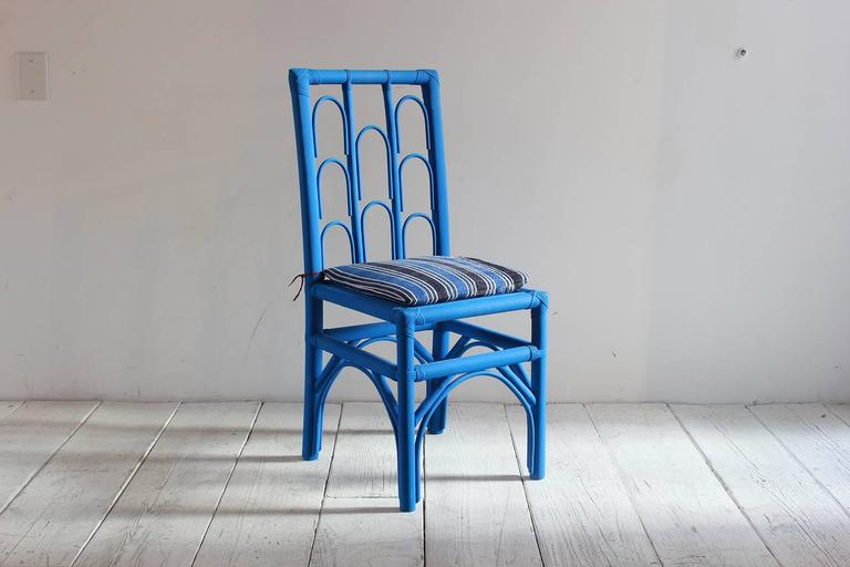 Hand-Painted Cobalt Wood Moroccan Side 6
