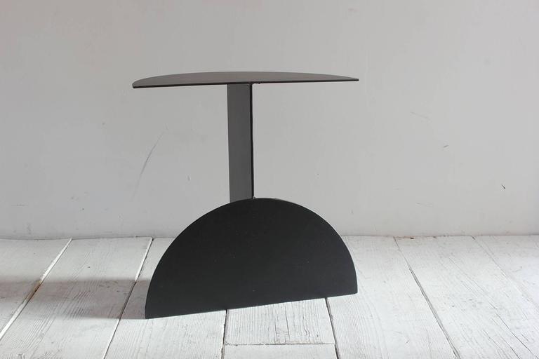 Black Powder Coated Metal Semi Circle Small Demilune 4