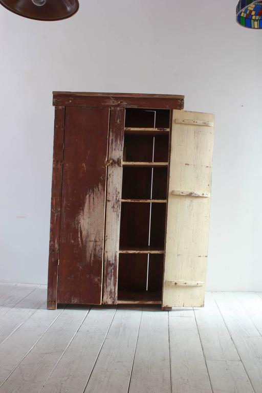 Tall Rustic Two Door Painted Cabinet 4