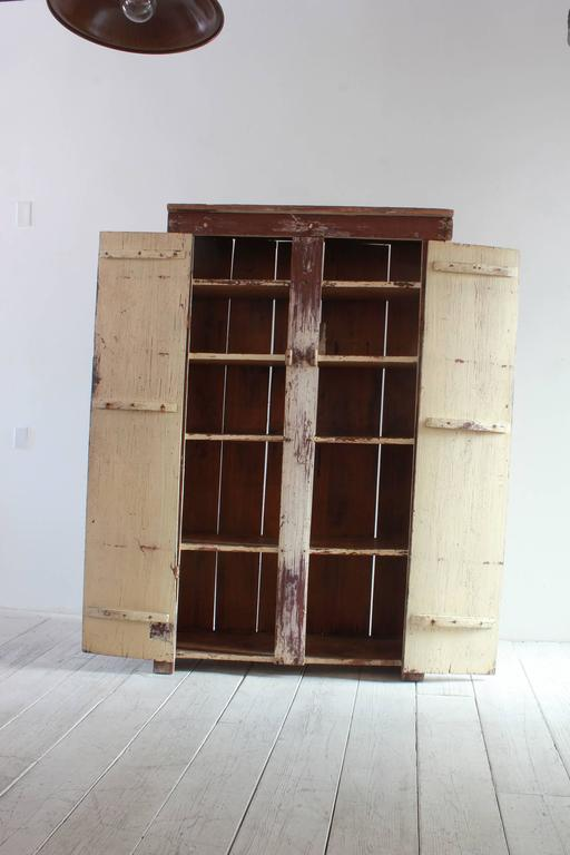 Tall Rustic Two Door Painted Cabinet 5