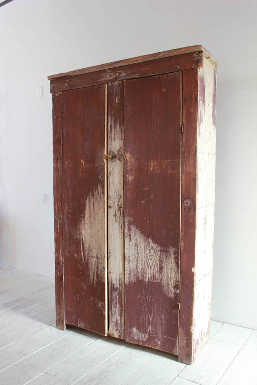 Tall Rustic Two Door Painted Cabinet 2