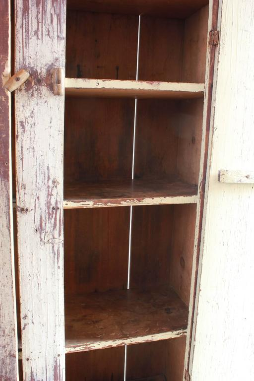 Tall Rustic Two Door Painted Cabinet 6
