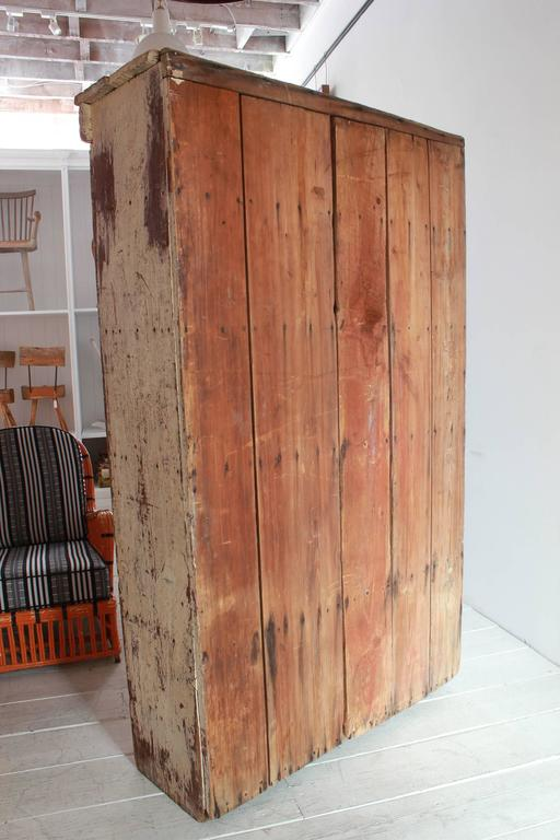 Tall Rustic Two Door Painted Cabinet 7
