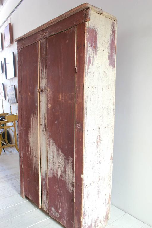 Tall Rustic Two Door Painted Cabinet 3