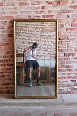 Brass Framed Rectangular Mirror