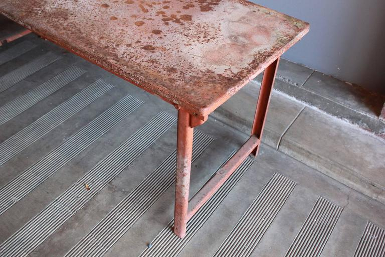 Red Work Table with Rusted Pattina 5