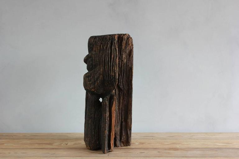 Sogi style charred figural wooden sculpture.
