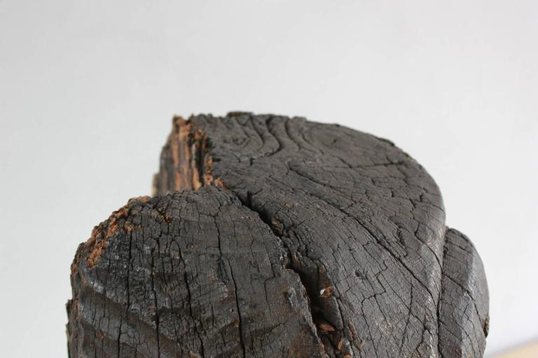 Sogi Style Charred Figural Wooden Sculpture For Sale 2