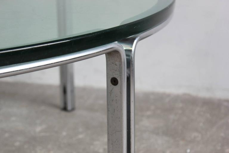 Round Metal and Steel Coffee Table with Glass Top 3