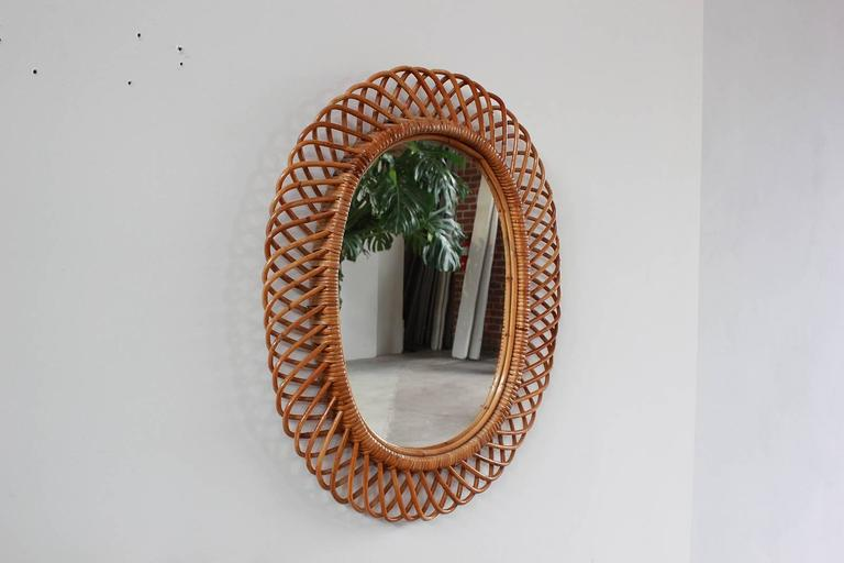Oval Intricate French Wicker Mirror 2