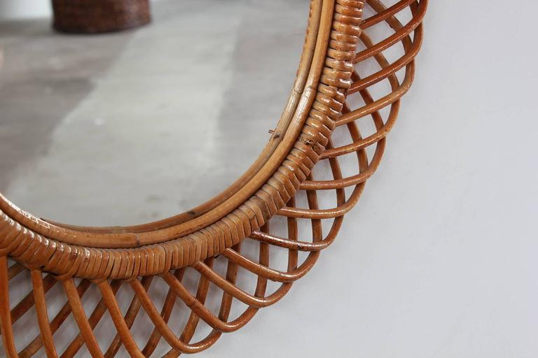 Oval Intricate French Wicker Mirror 3