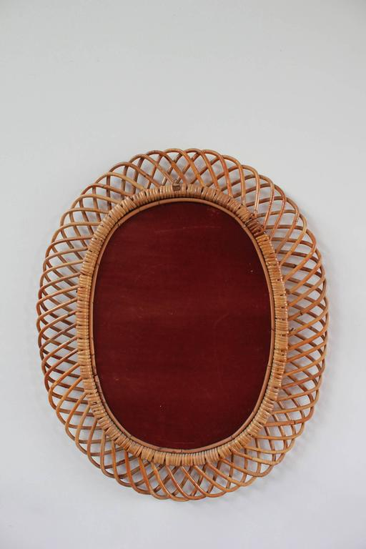 Oval Intricate French Wicker Mirror 5