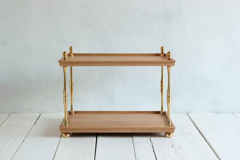 Nickey Kehoe Collection Turned Brass Side Table 2