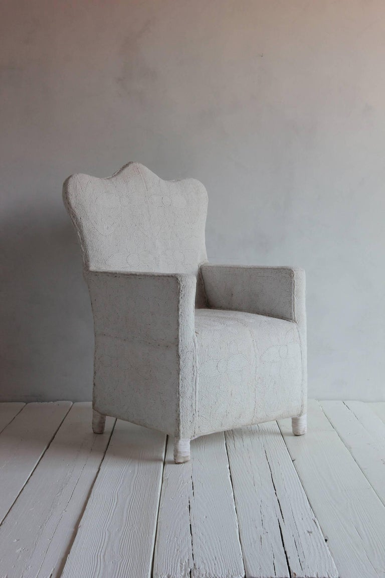 African Hand Beaded Chair with Crowned Top from Nigerian Yoruba Tribe 8