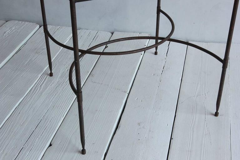Tall Iron and Glass Table For Sale 2