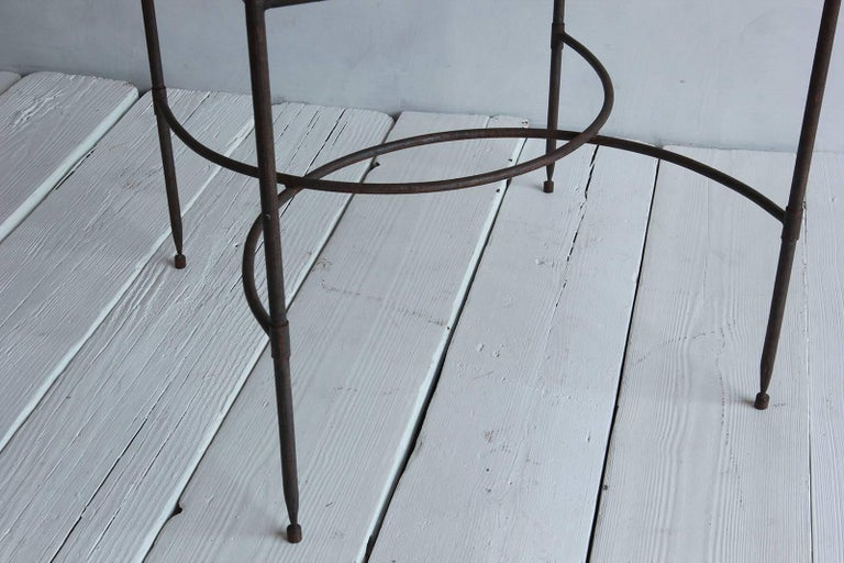 Tall Iron and Glass Table 6