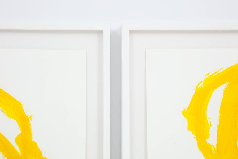 Tim Forcum Original Framed Yellow Abstract In Excellent Condition For Sale In Los Angeles, CA