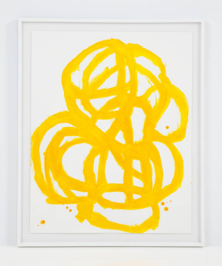 Tim Forcum Original Framed Yellow Abstract For Sale 1
