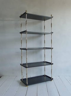 NK Collection Turned Brass Etagere