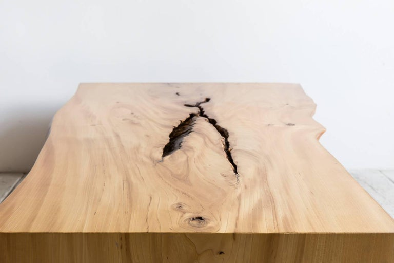 Contemporary Live Edge Coffee Table For Sale