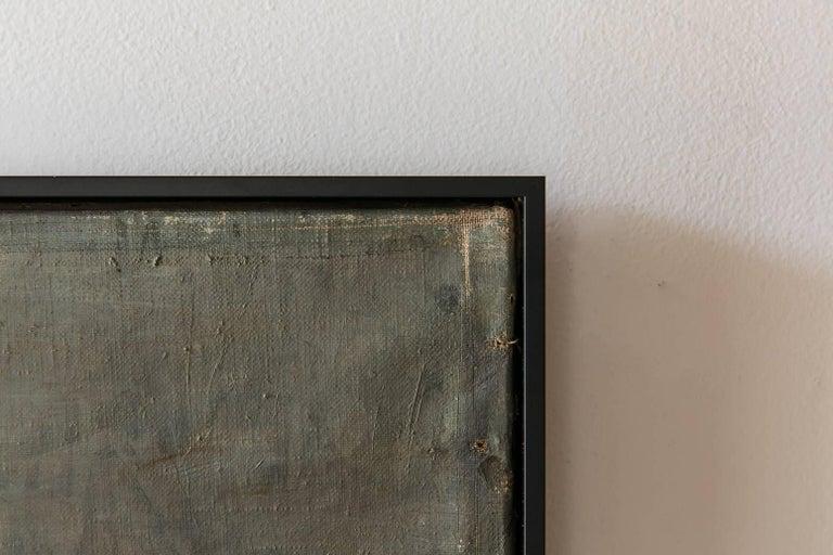 """Black Framed """"Gaswork"""" Vintage Industrial Landscape Painting Signed Flemming For Sale 1"""