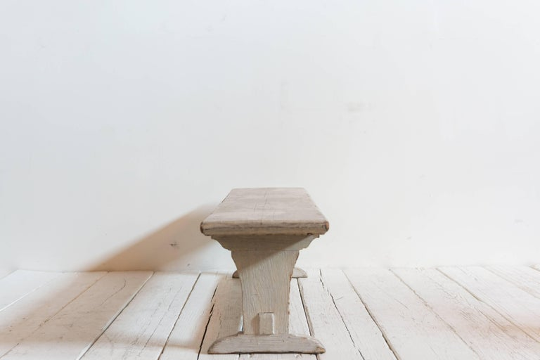 Mid-20th Century Rustic White Ash Wood Bench For Sale