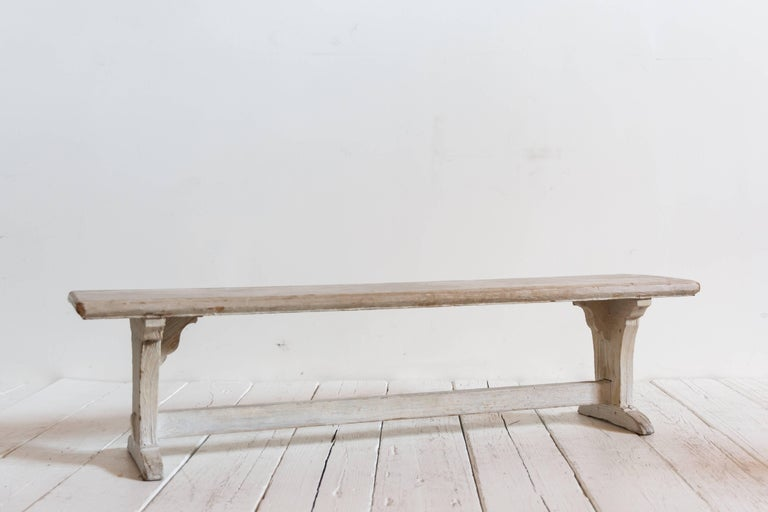 Rustic White Ash Wood Bench For Sale 1