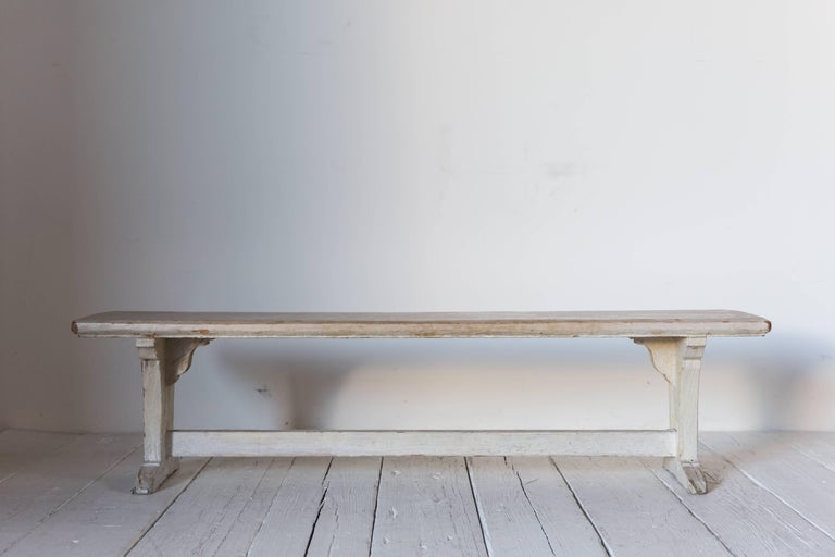 Rustic White Ash Wood Bench For Sale 3