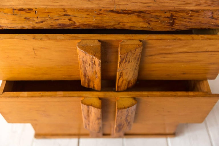 Rustic Four-Dresser with Live Edge Handles In Distressed Condition For Sale In Los Angeles, CA