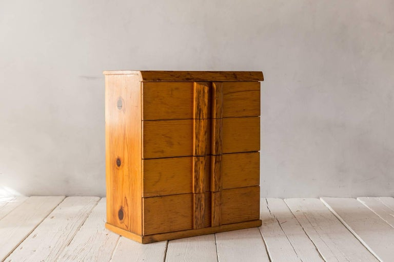 Rustic Four-Dresser with Live Edge Handles For Sale 1