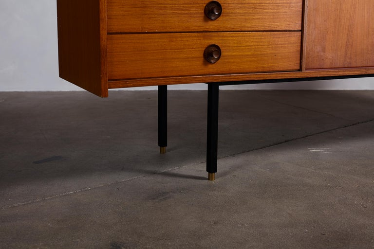 Italian Midcentury Ico Parisi Style Credenza with Four Drawers and Two Doors For Sale 2