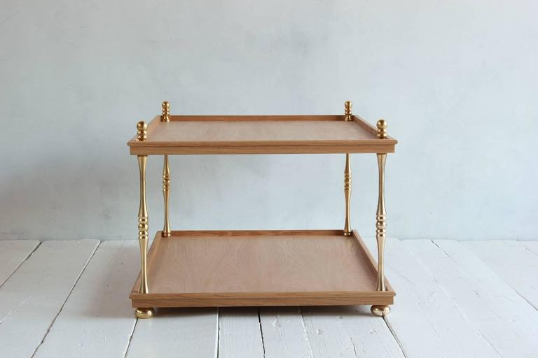 Nickey Kehoe Collection Turned Brass Cocktail Table In Excellent Condition For Sale In Los Angeles, CA