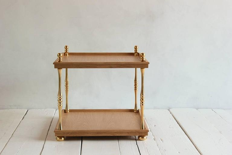 Nickey Kehoe Collection Turned Brass Side Table 3