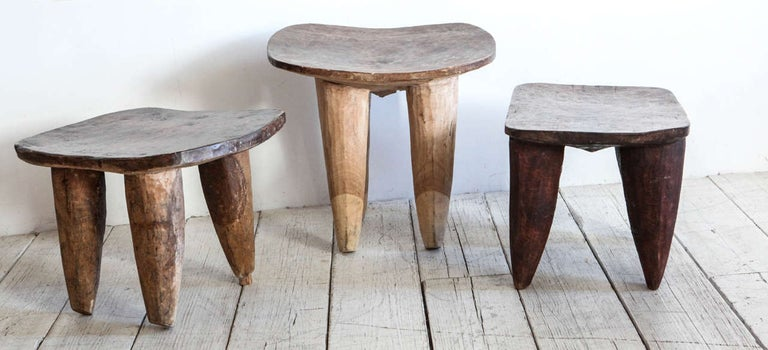 African stool from Senufo tribe in Mali. Various sizes and colors available.