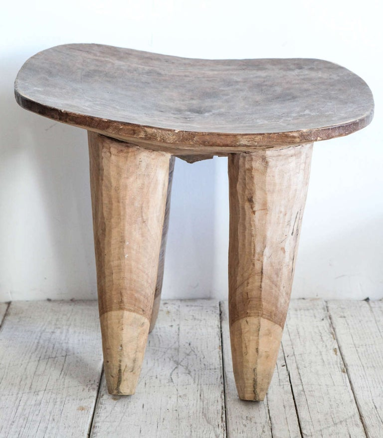 Rustic African Senufo Stools/Tables For Sale