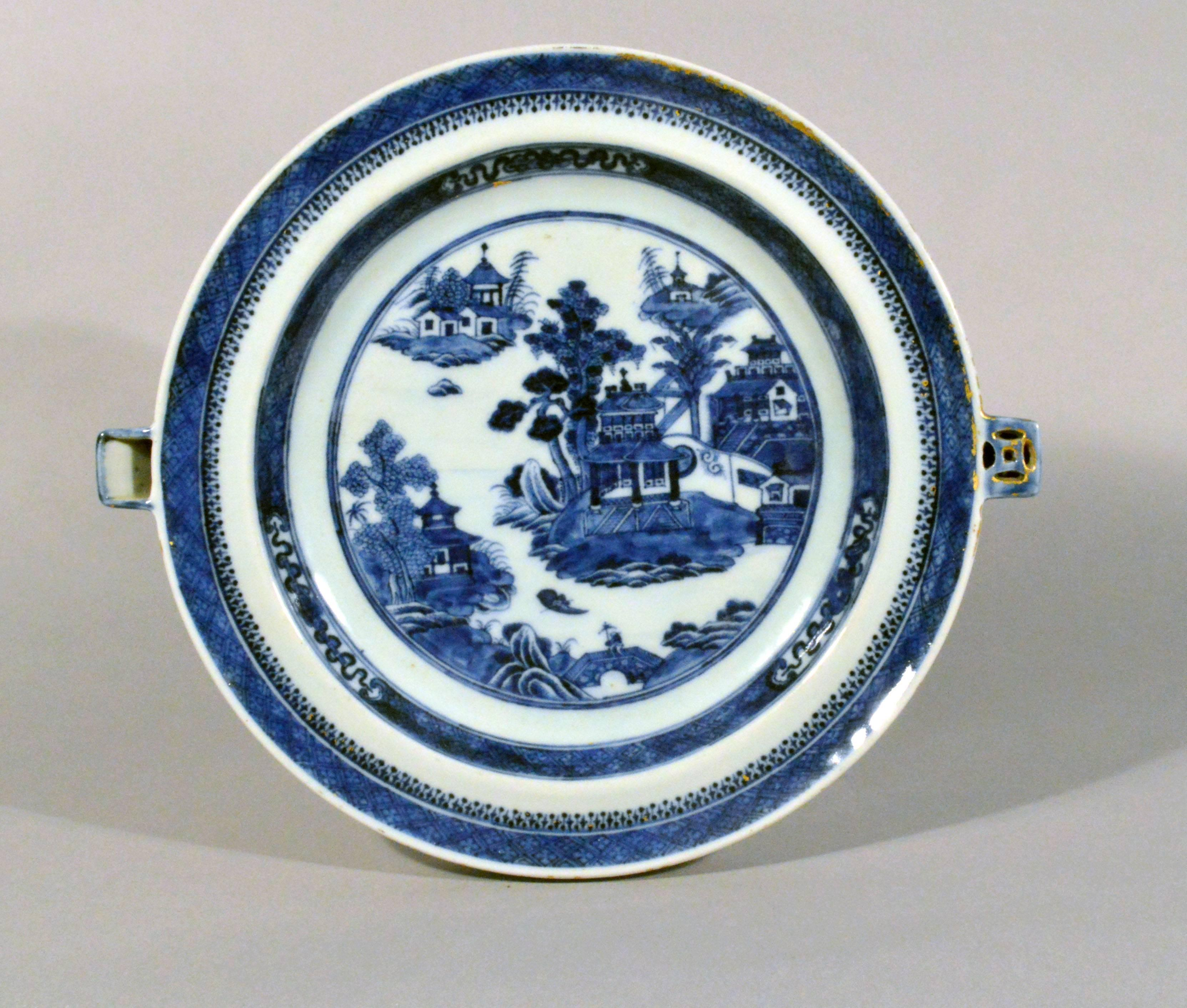 Chinese Export Blue and White Porcelain Hot Water Plates circa 1780-1800 at 1stdibs & Chinese Export Blue and White Porcelain Hot Water Plates circa 1780 ...