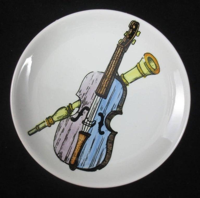 Mid-Century Modern Set of Eight Midcentury Bucciarelli Musical Coasters, circa 1960 For Sale