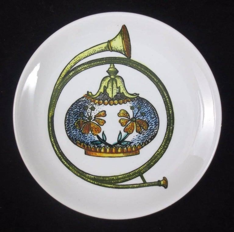 Mid-20th Century Set of Eight Midcentury Bucciarelli Musical Coasters, circa 1960 For Sale