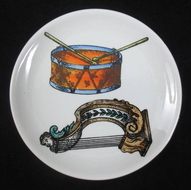 Italian Set of Eight Midcentury Bucciarelli Musical Coasters, circa 1960 For Sale